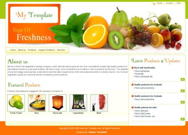 exclusive free web template