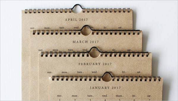 sample week calendar templates