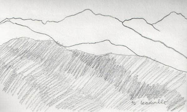 landscape line drawing