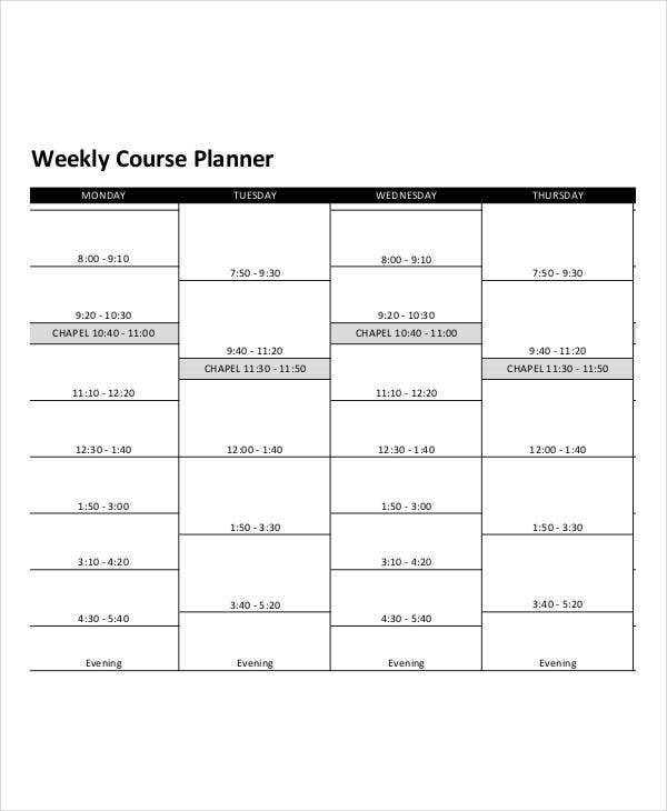 Printable Weekly Planner   Free Pdf Documents Download  Free