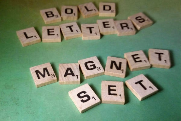 Bold Letters in Magnet Set