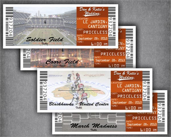 18  printable ticket templates