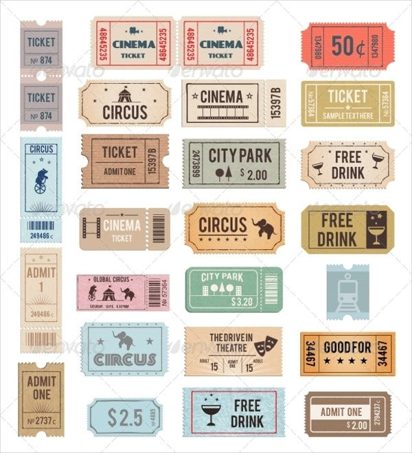 Vintage Ticket Template