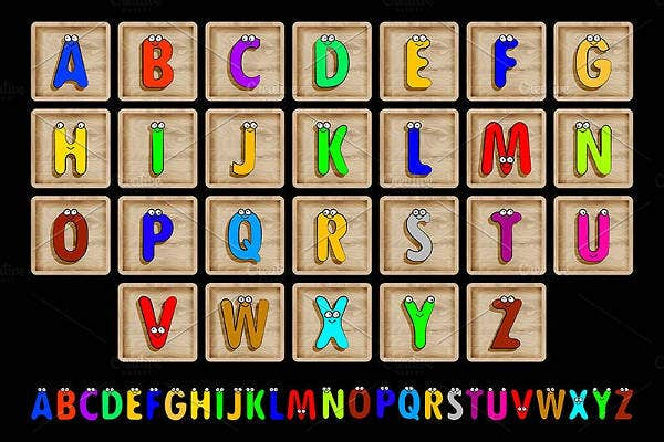 capital block letters