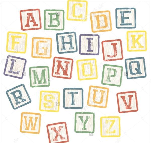 block letters alphabet collection