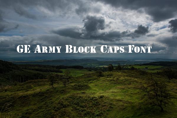 Block Capital Letters Font