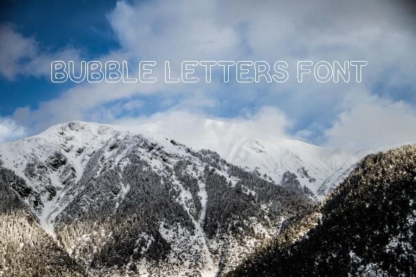 Block Bubble Letters Font