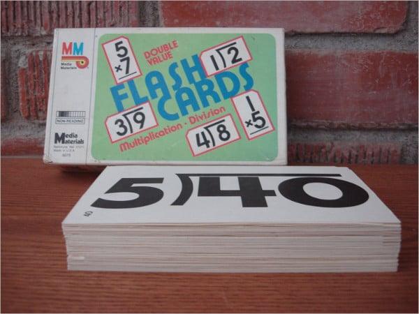 math flash card