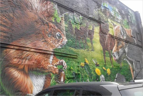 outdoor wall art