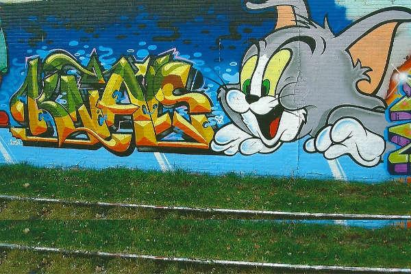 cartoon wall art