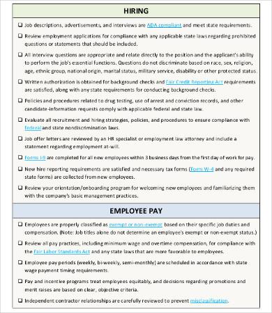 hr new employee checklist template