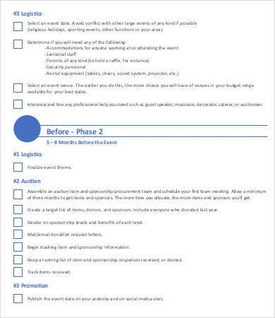 9+ Sample Event Checklist Template - Free Sample, Example, Format