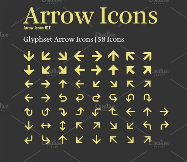Arrow Icons Font