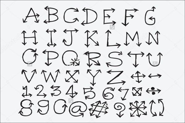 Alphabet Arrow Font