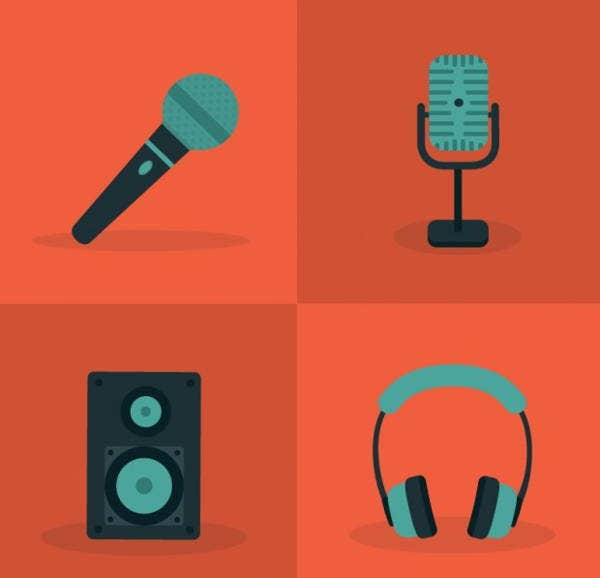 Microphone and Audio Icons