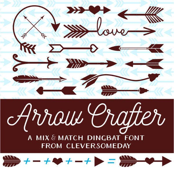 arrow crafter font1