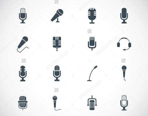 Black Microphone Icons