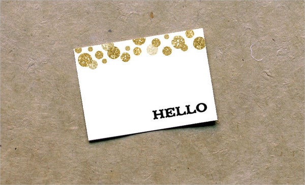 party starred note card template