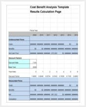 cost analysis template 1 min