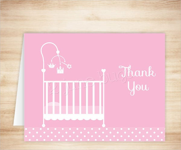 princess crib thank you card1