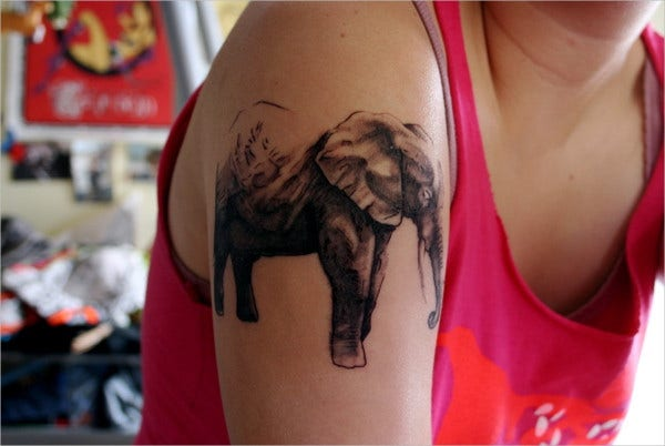 Elephant Tattoo Art