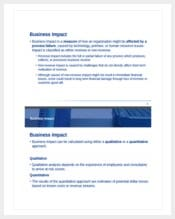 business impact analysis template min