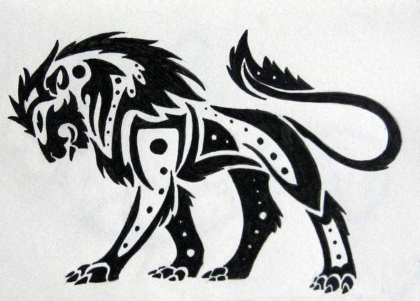 Lion tribal Art