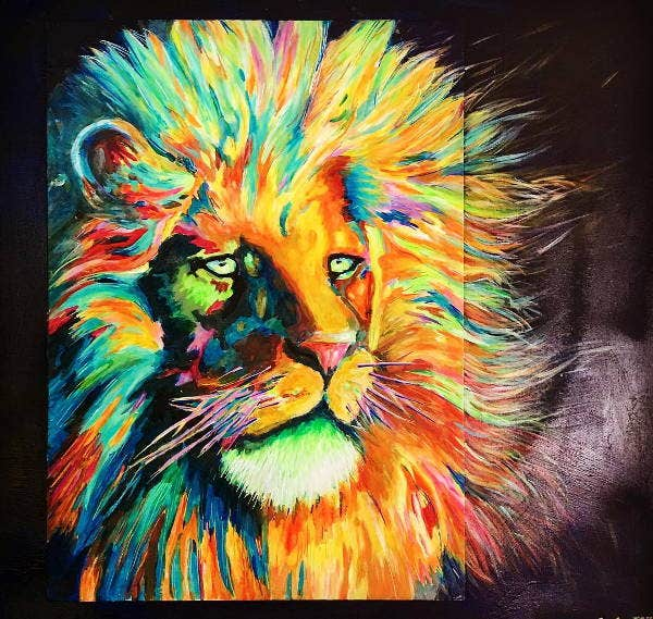colorful-lion-art