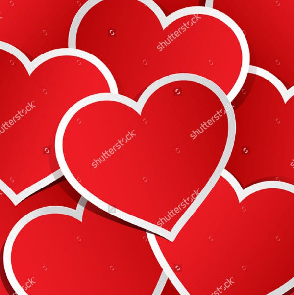 vector love stickers