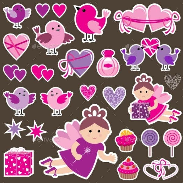 Scrapbook Love Stickers
