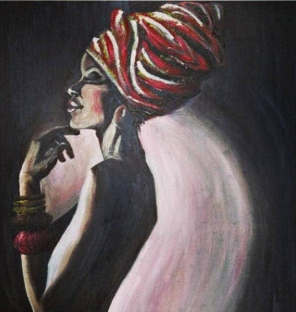 black art oil painting