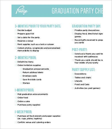 graduation party checklist template party checklist template 9 free word pdf documents