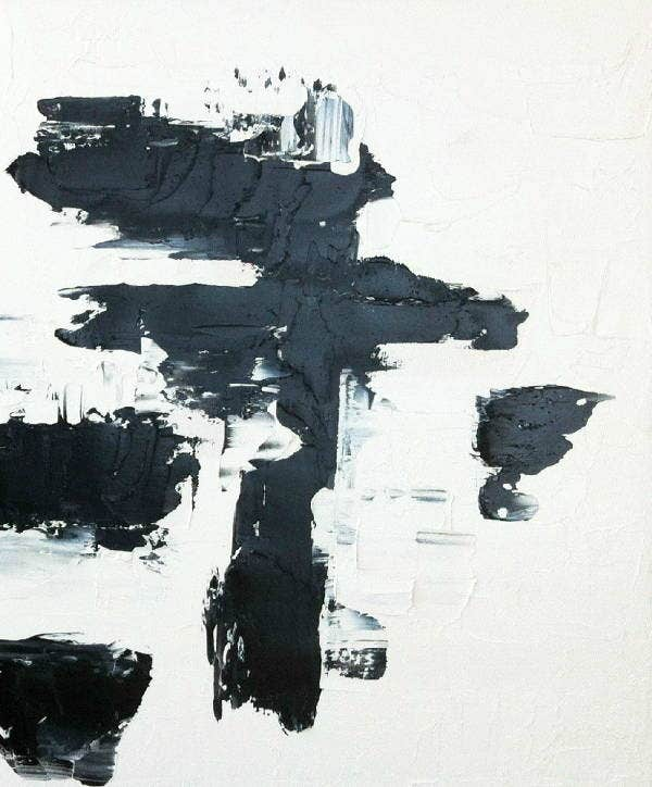 abstract black art painting1
