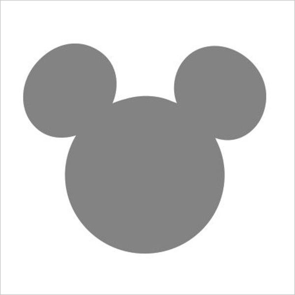 Printable Mickey Mouse Template