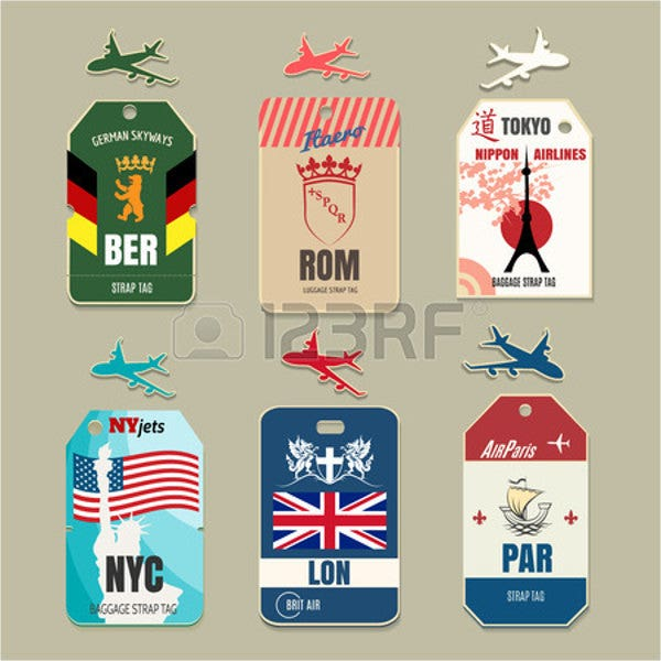 10 luggage tag templates free premium templates for Airline luggage tag template