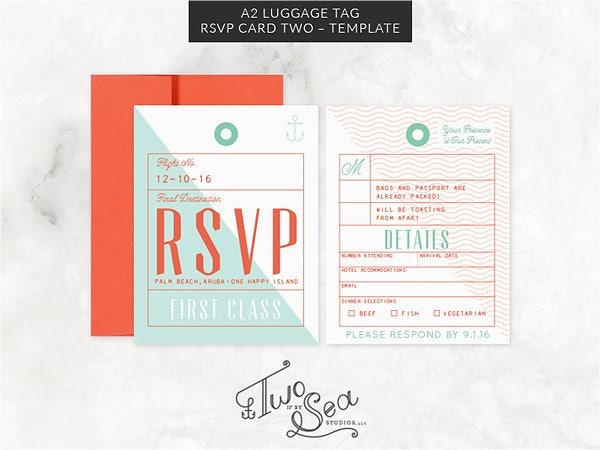 Luggage Tag Card Template