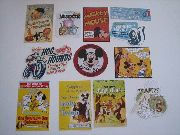 Vintage Disney Stickers