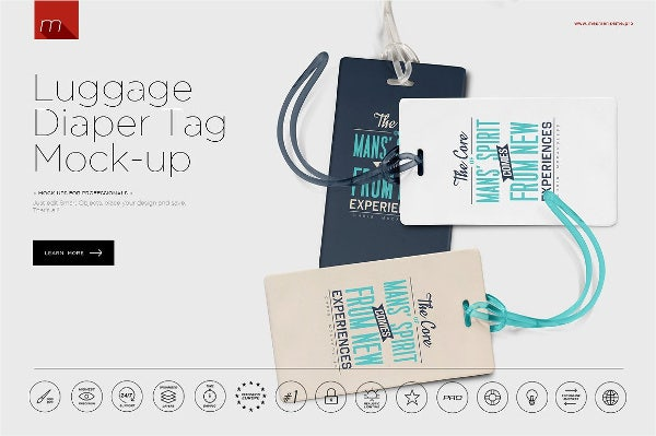 Luggage Diaper Tag Template