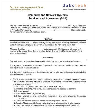 12 service contract templates free sample example for Agreement to provide services template