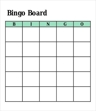 free bingo card template1