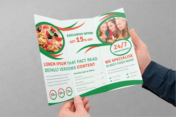 food-trifold-brochure