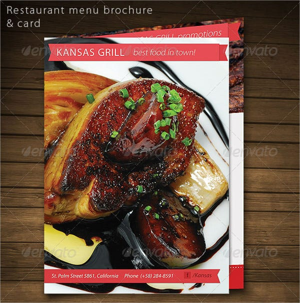 Restaurant Food Brochure