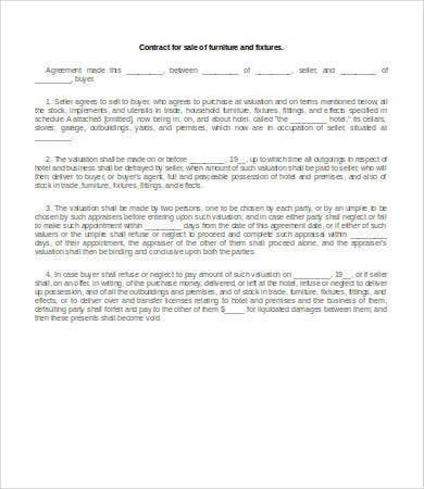 Sales Contract Templates  Free Sample Example Format Download