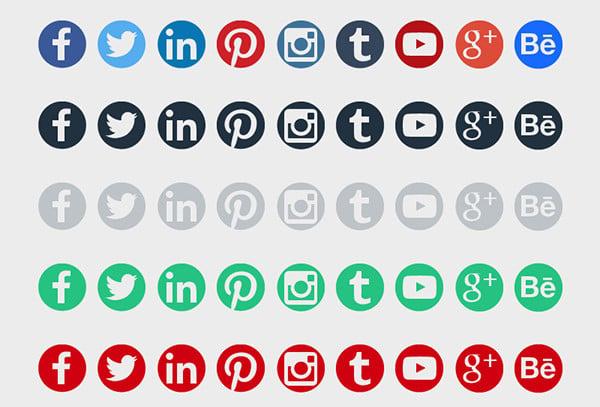 web design round social media icon