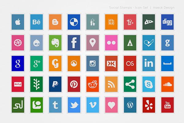 vector social icon set