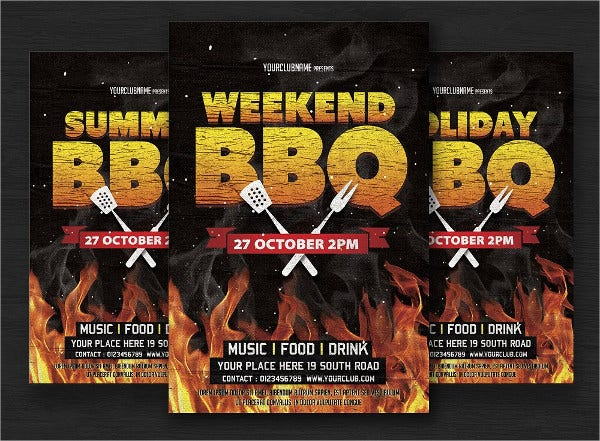 sunday bbq flyer