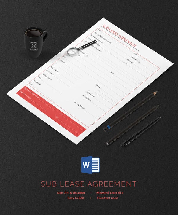 Sub Lease Agreement Template
