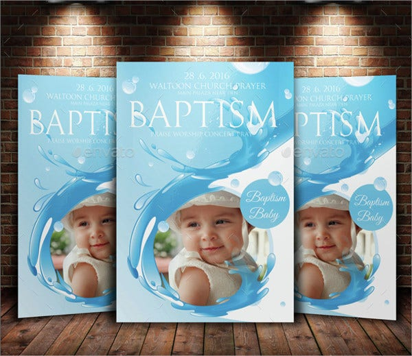 baptism sunday flyer