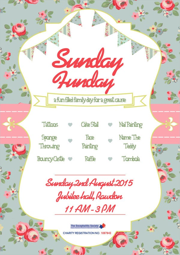 sunday funday flyer