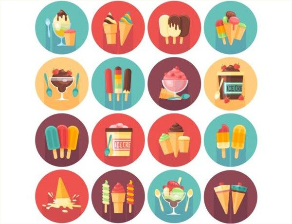Set of Ice Cream Icons Free